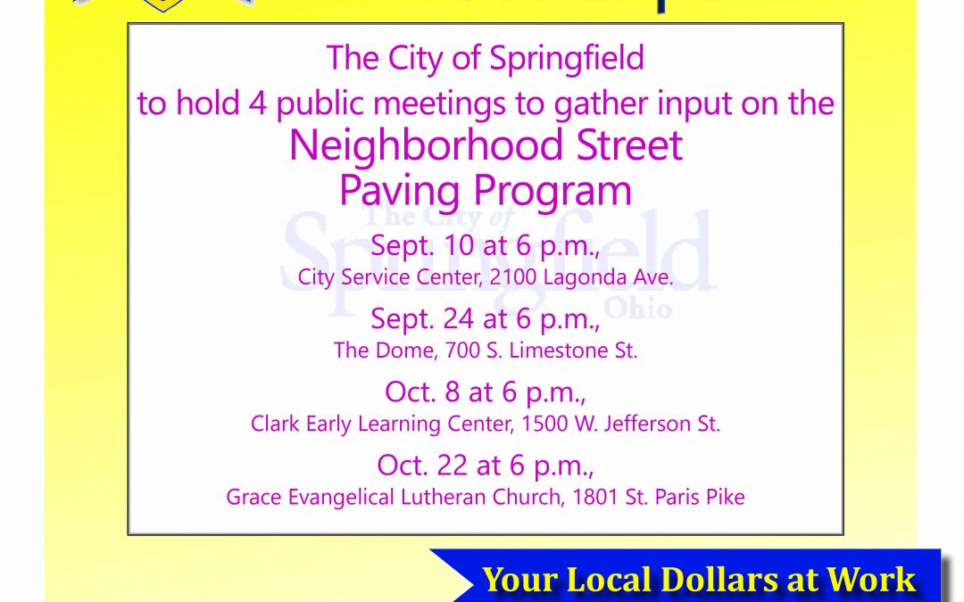 City Asking Public Input on Street Paving Program