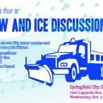 Public Invited to Snow and Ice Removal Discussion