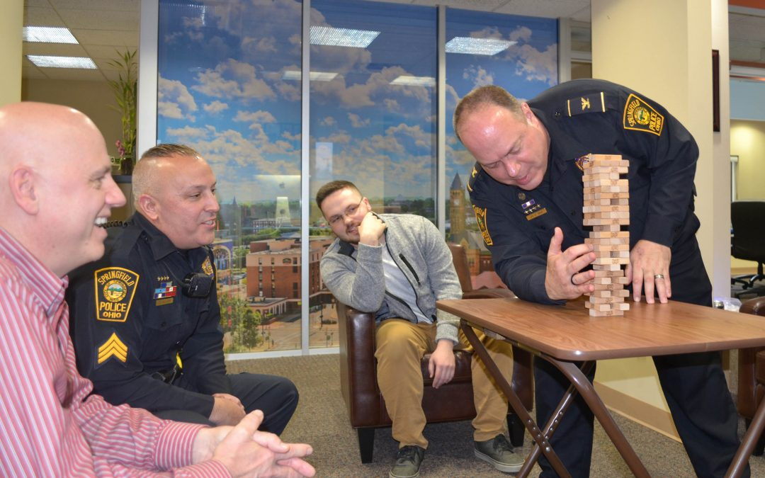 Springfield Police Take Part in Jenga Tournament