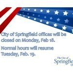 City Offices Closed on President's Day