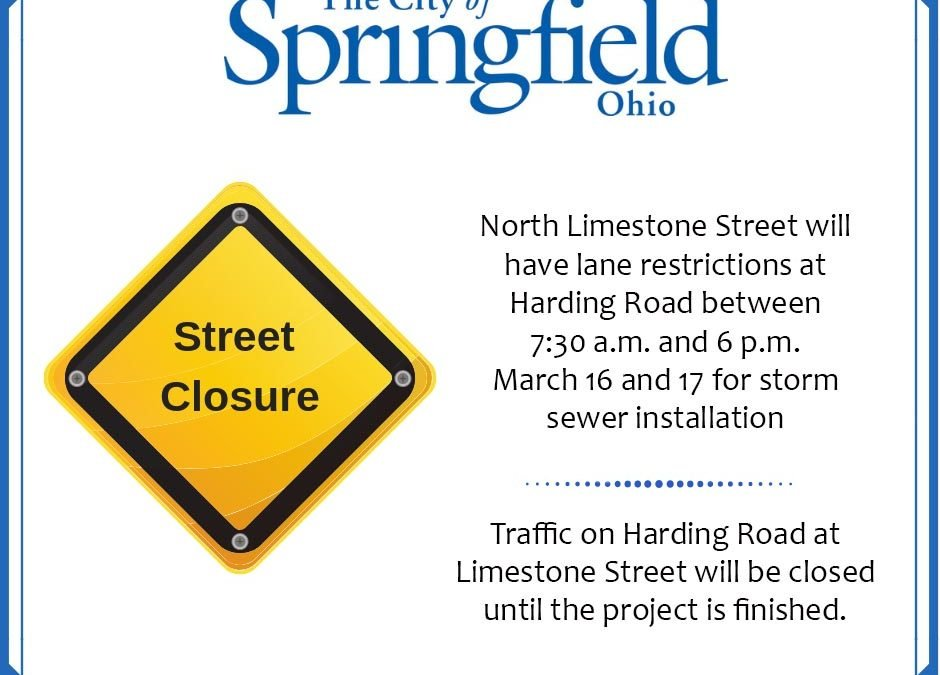 Lanes to Be Restricted on Limestone Street This Weekend