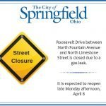 Roosevelt Drive Closed Due to Gas Leak
