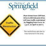 Traffic on Plum Street Restricted Wednesday and Thursday