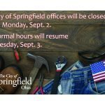 City Offices Closed Sept. 2