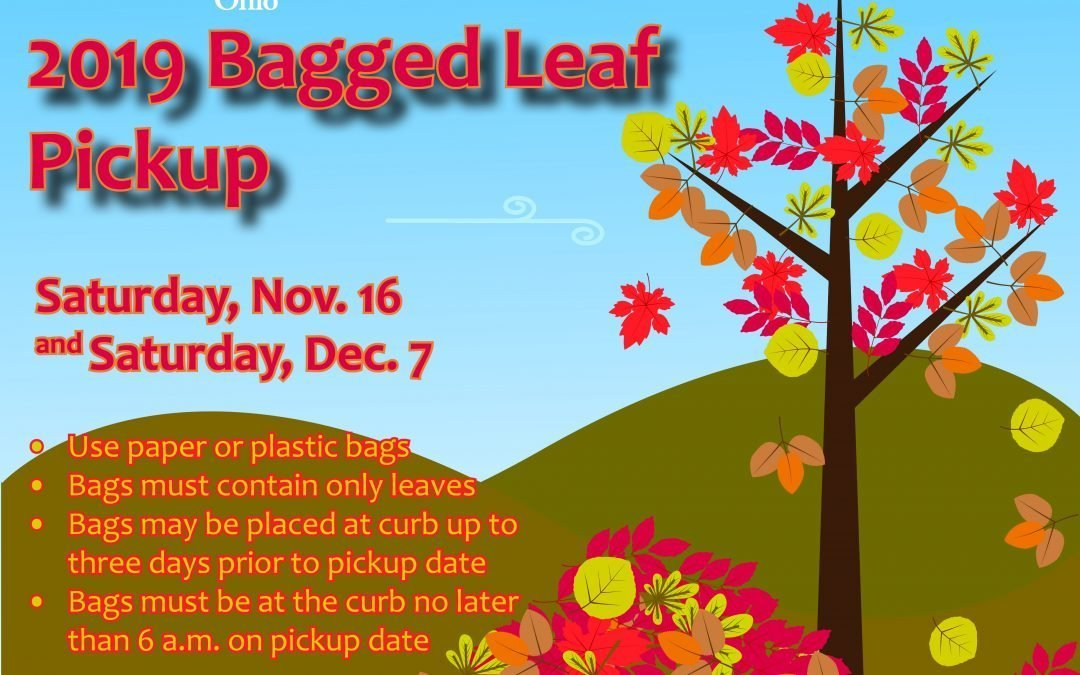 Dates Announced for 2019 Bagged Leaf Pickup