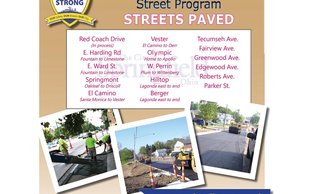 16 Streets Paved in 2019 Neighborhood Street Program