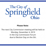 Commission Meeting – Nov 4th
