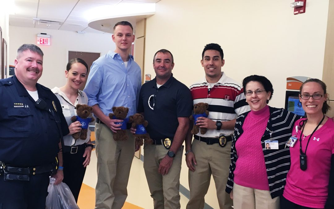 Springfield Officers Deliver Teddy Bears to Children's Hospital