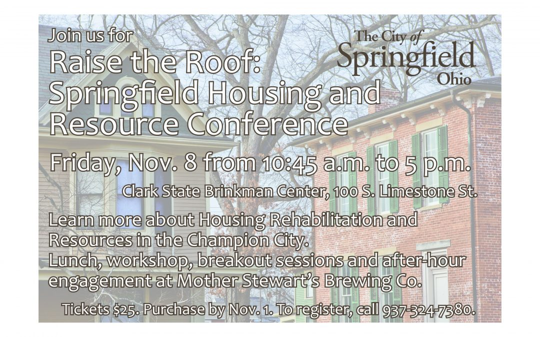 Housing and Resource Conference Scheduled Next Month