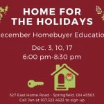 Dates for December Homebuyer Education Classes Announced