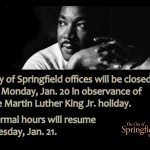 City Offices Closed Monday for MLK Holiday