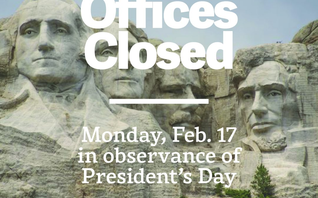 City Offices Closed Monday