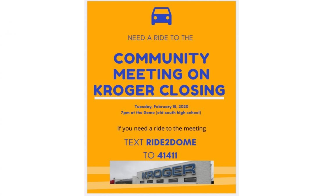 Need a Ride to the Community Meeting? Call or Text