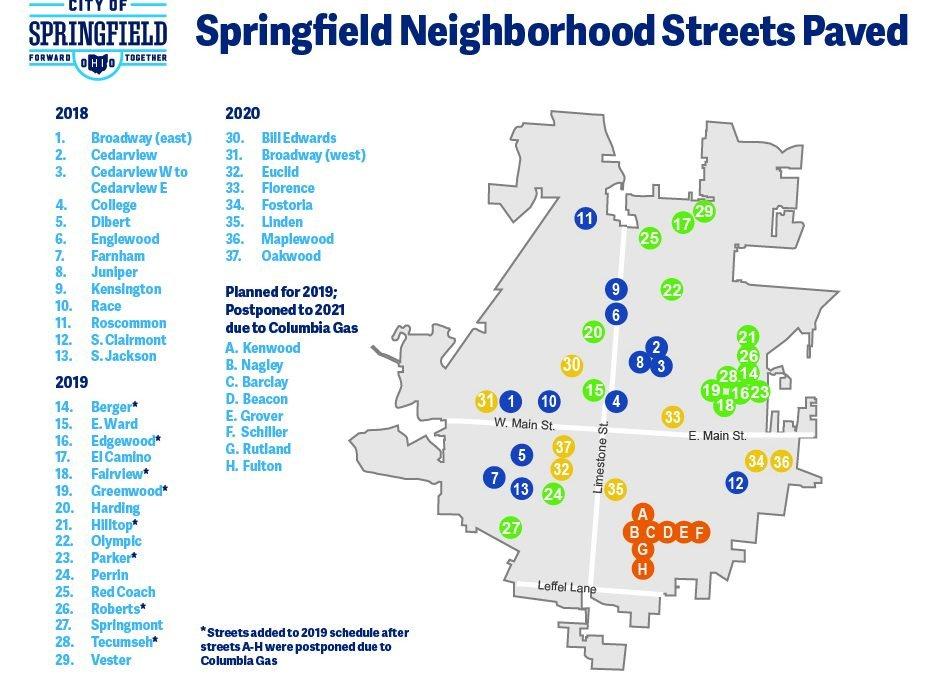2020 Neighborhood Street Program Announced