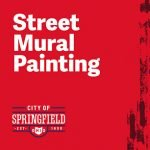 City Employees Join Neighborhood in Painting Street Murals