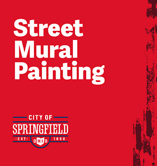City Employees Join Neighborhood in Painting Street Murals